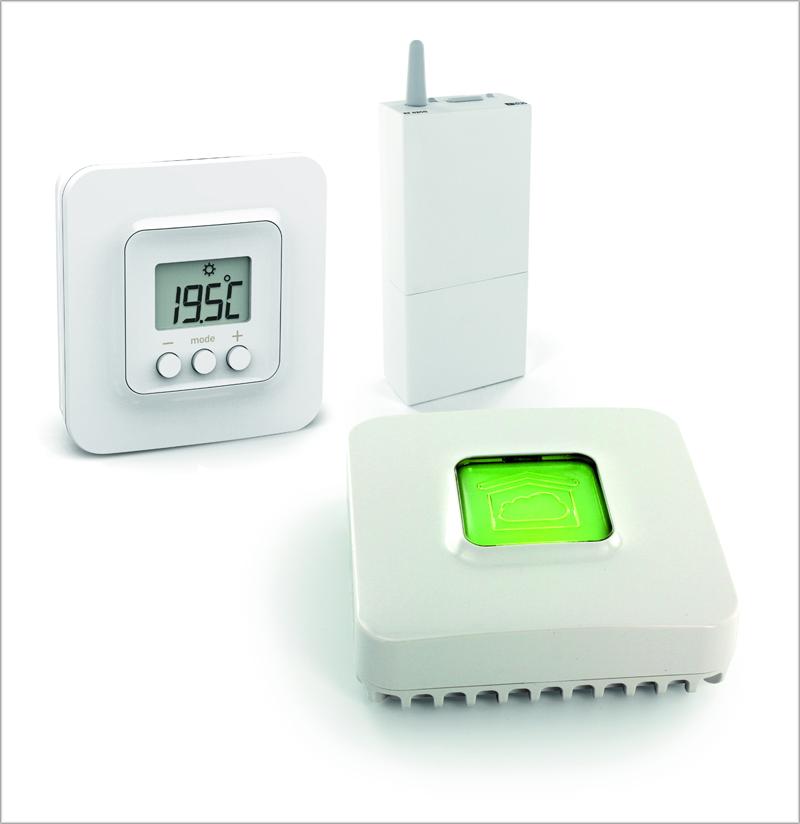 Los termostatos Tybox de Delta Dore pueden controlarse a través de la compañía para ahorrar energía.