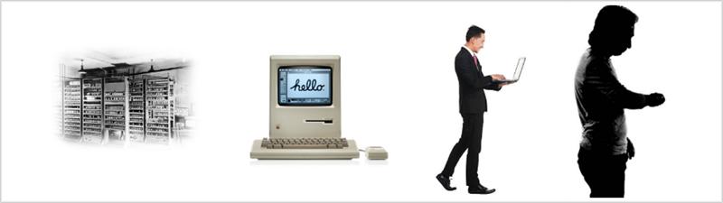 Figura 4. Evolución tecnológica vs movilidad. Fuente: Internet.