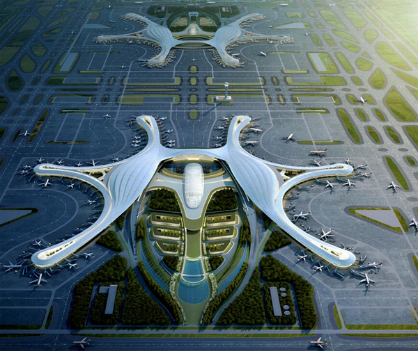 Imagen de Futuro aeropuerto de Chengdú.