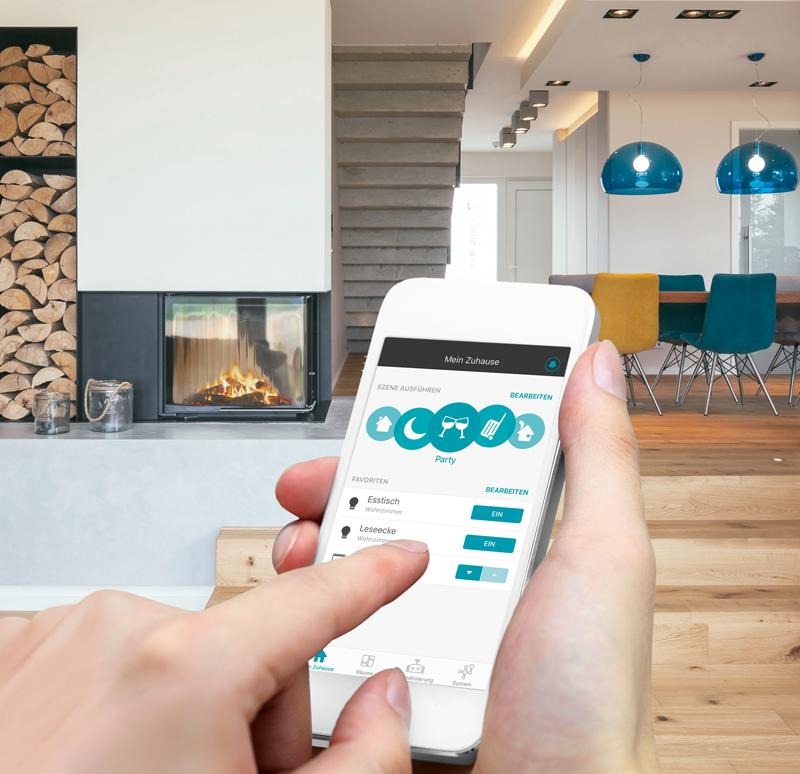 El software eNet Smart Home de Jung ofrece una conectividad entre dispositivos segura, gracias a los protocolos encriptados.
