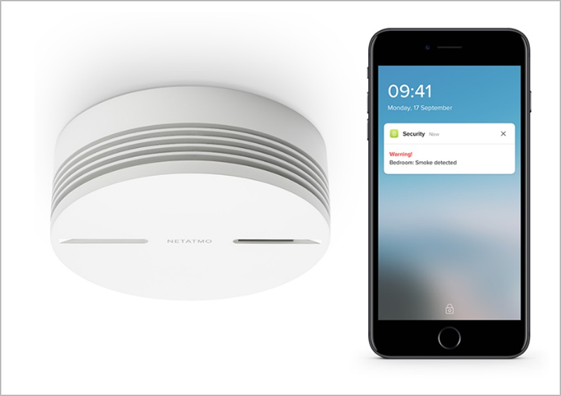 El detector de humo inteligente de Netatmo es compatible con HomeKit de Apple.