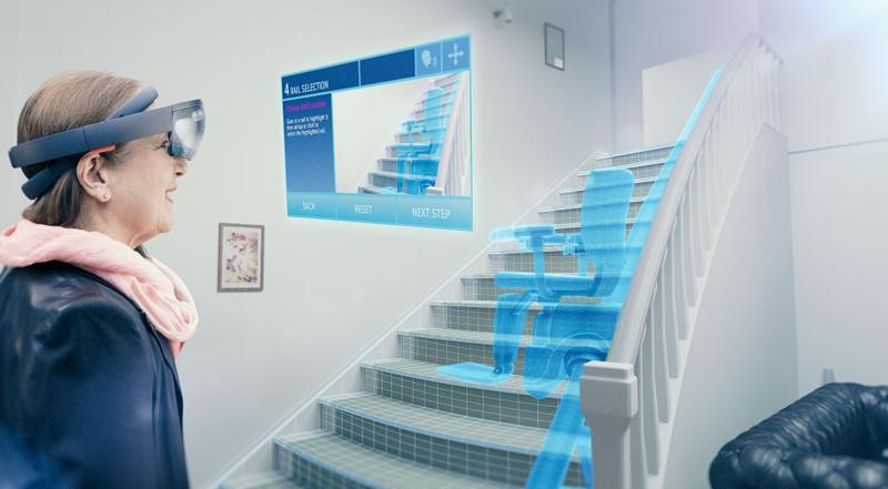 Thyssenkrupp Elevator desarrolla una solución basada en la realidad virtual para medir y configurar sillas salvaescaleras.
