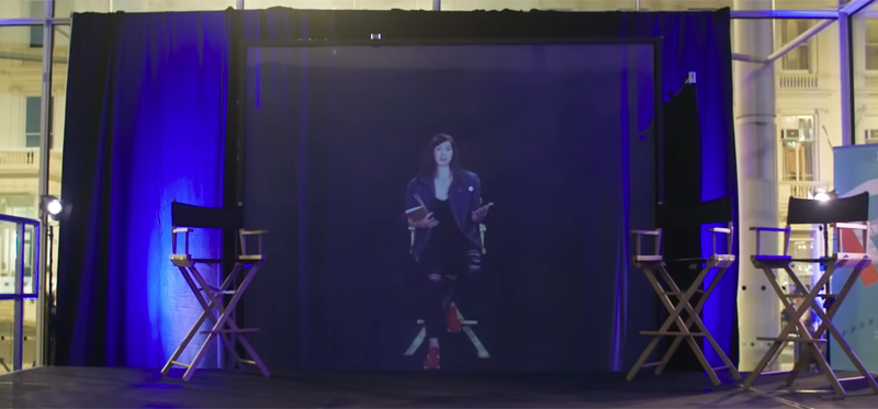 La primera conferencia con hologramas que permite interactuar entre el orador y oyente.