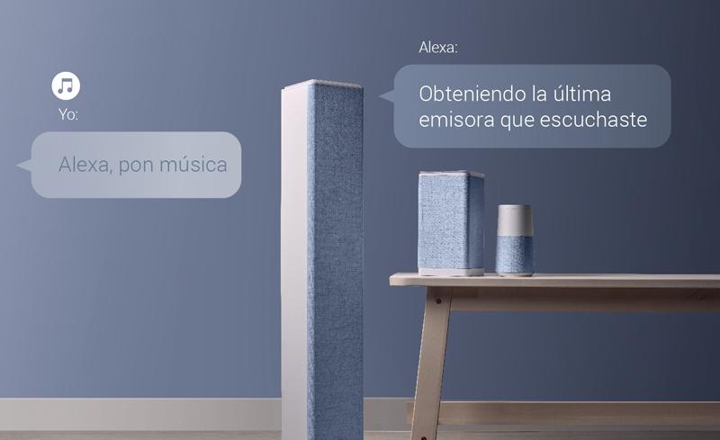 Energy Sistem lanza una nueva gama de altavoces y torres de audio con conectividad con Alexa Amazon.