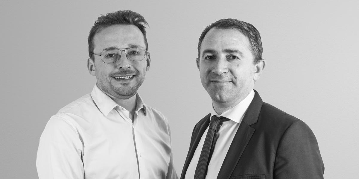 Fred Potter, fundador y CEO de Netatmo (izquierda) y Benoît Coquart, CEO de Legrand (derecha).