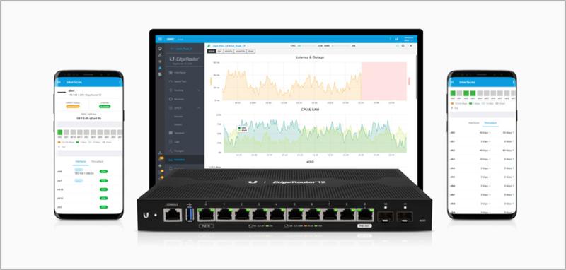 Ubiquiti Networks añade a su portfolio un router con 12 puertos para PoE y Fibra Óptica.