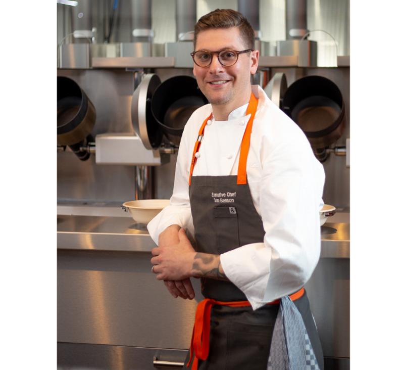 Sam Benson, cocinero ejecutivo.