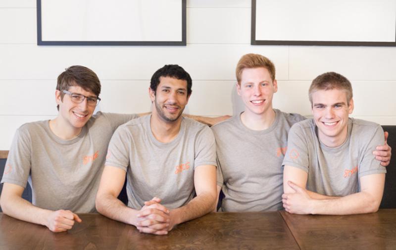 De izquierda a derecha los miembros del equipo Spyce: Brady Knight, Michel Farid, Kale Rogers, Luke Schlueter.