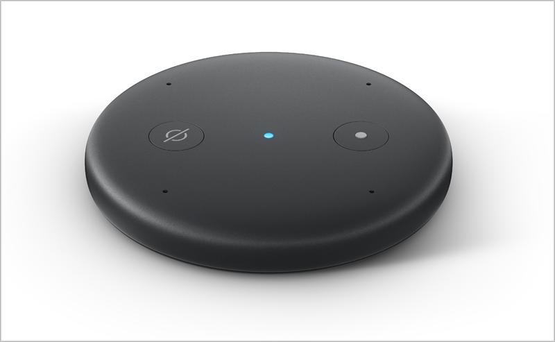 El dispositivo inteligente Echo Input puede conectarse a un altavoz e interactuar con Alexa.