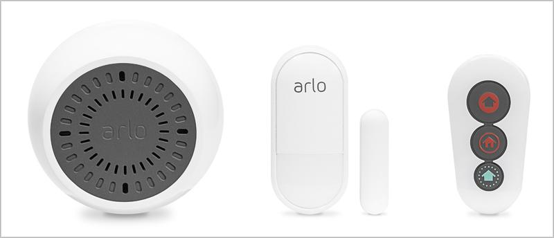 Las nuevas soluciones de seguridad de Arlo se compone de sensores, sirenas y control remoto.
