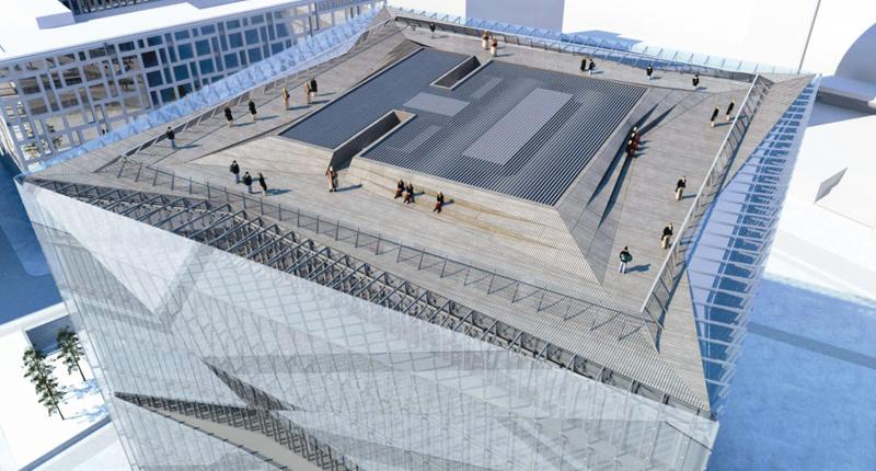 El Cube berlin dispone de una azotea comunitaria donde se podrá obtener unas vistas de toda la ciudad de Berlin.