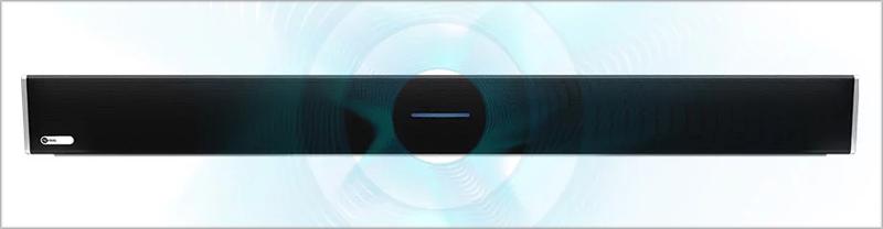 Esta barra para las audioconferencia tiene integrada la tecnología Microphone Mist.
