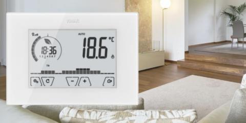 Los termostatos de Vimar incluyen algoritmos para controlar la temperatura de los hogares inteligentes