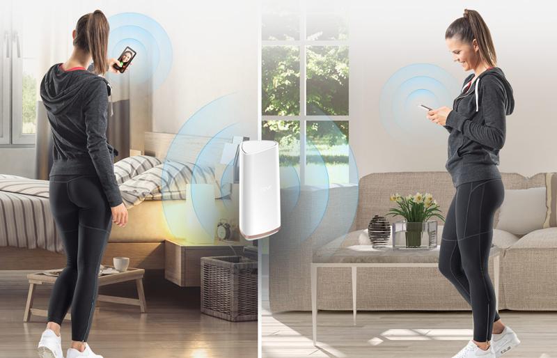 Se pueden instalar varias unidades del router Covr en el domicilio para garantizar la señal Wi-Fi.