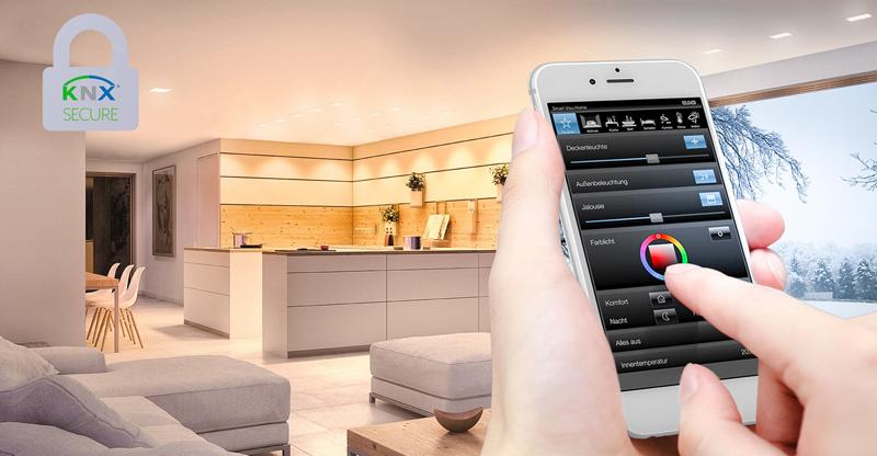 KNX IP Secure yKNX Data Secure mantienen seguras las instalaciones domóticas de los hogares inteligentes contra intentos de hackeo.