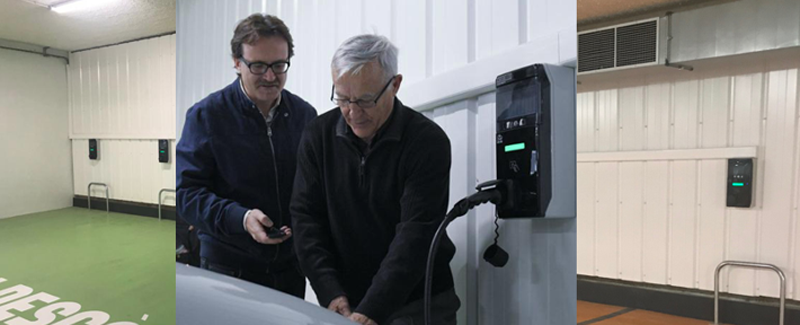 Los cargadores de carga de Orbis ofrecen conexión Ethernet para controlar el uso de los dispositivos.