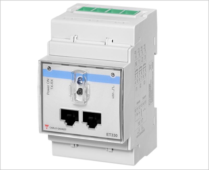 Con el transductor ET 330, los profesionales pueden monitorizar la energía de las instalaciones.