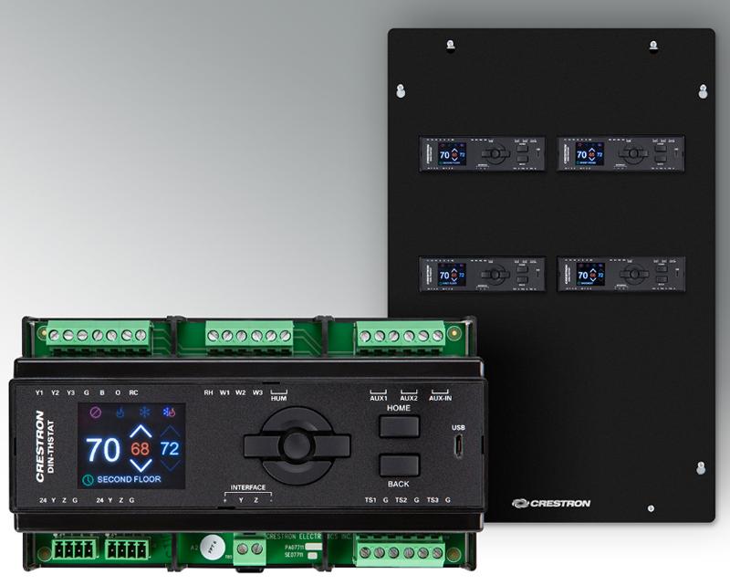 La solución de Crestron permite centralizar todos los termostatos de los sistemas HVAC, para una eficiente gestión.