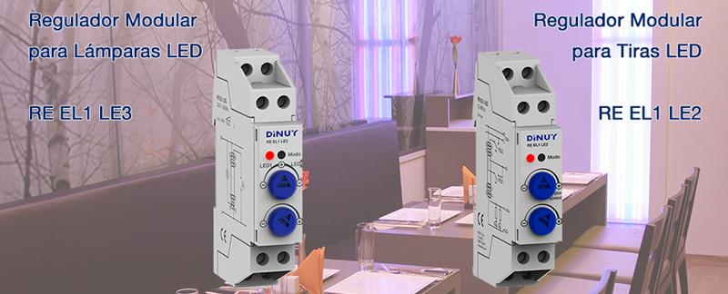 El regulador modulable de tiras Led RE EL1 LE2 controla la intensidad de la iluminación a través de la anchura de pulsos (PWM).