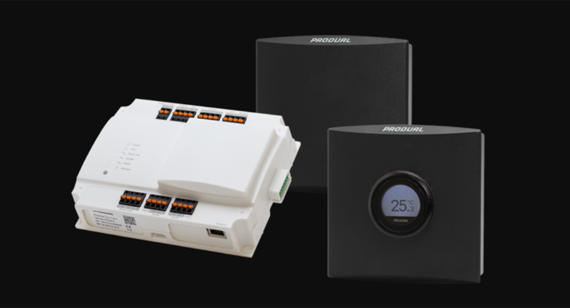 La solución Produal Proxima se compone de un software y hardware que proporciona conectividad inalámbrica a todos los nodos para expandir la red.