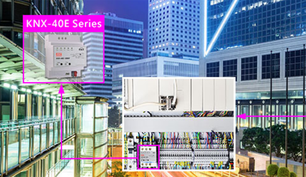 La fuente de alimentación para bus KNX de Mean Well permite la monitorización y el control de los dispositivos automatizados de los edificios inteligentes.