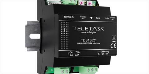 La interfaz para los automatismos lumínicos de Teletask soporta los protocolos DALI, DSI y DMX