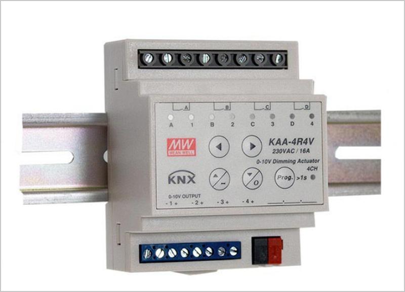 El nuevo actuador y regulador KNX de Carril DIN permite regular los Led drivers.