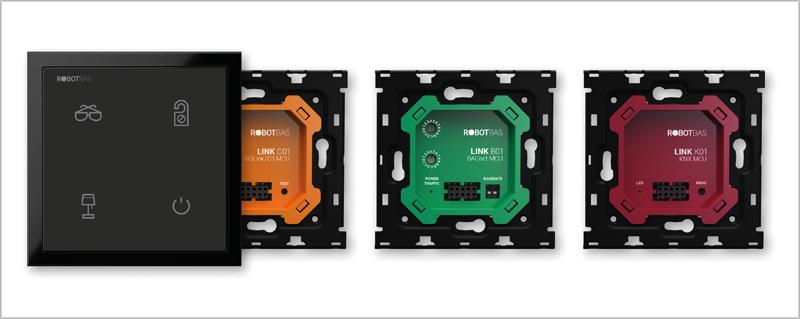 El módulo Link se divide en tres protocolos diferentes: KNX, BACnet y SiSLink.