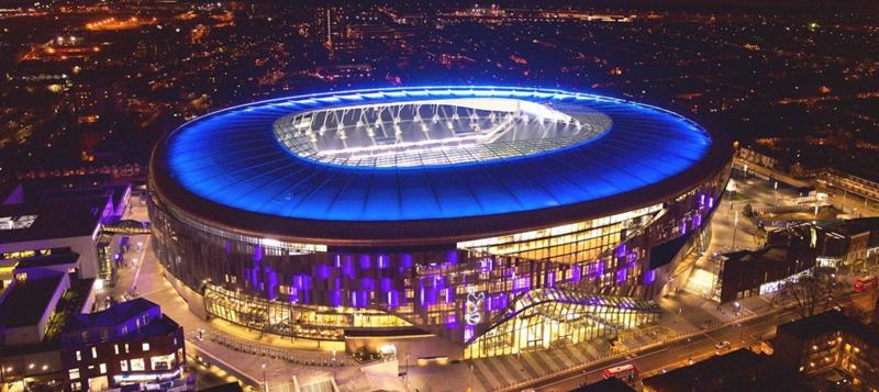 El Grupo Zumtobel ha sido el encargado de desarrollar un proyecto lumínico en el estadio Tottenham Hotspur.