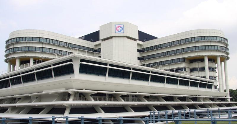 Fachada del hospital KKH en Singapur.