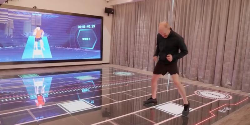 En las zonas comunes del hotel, los clientes pueden seguir disfrutando de las nuevas tecnologías, como es el caso del gimnasio interactivo.