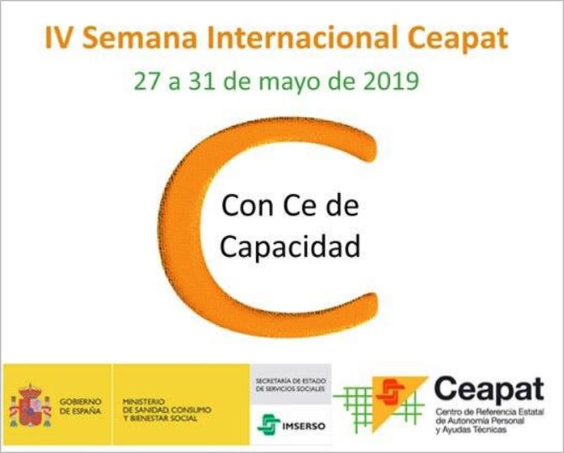 Cartel promocional de la semana internacional de Ceapat.