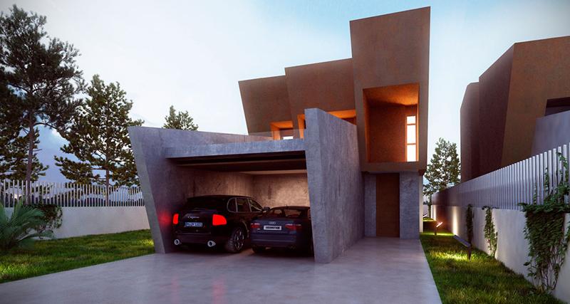 Garaje de las viviendas Perseo Drive.