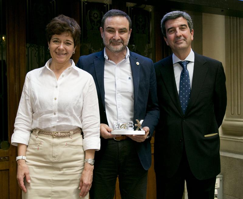 Jaume Simonet, CFO de Robot, recogiendo el premio de Foro Medcap 2019.
