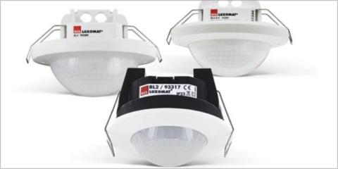 Detectores de movimiento para estancias reducidas, espacios grandes y pasillos