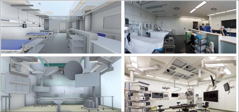 Figura 3. Dos vistas del modelo BIM – Hospital del Mar.