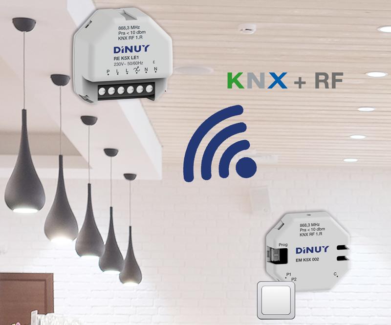 Dispositivo KNX de radiofrecuencia de Dinuy.