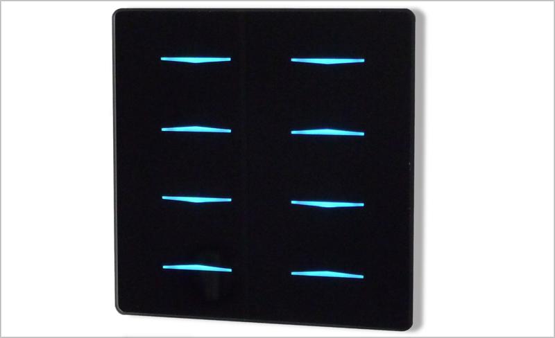 Imagen de los pulsadores táctiles Rainbow de Domintell.