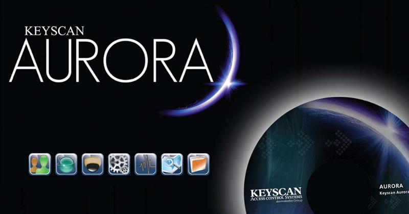 Cartel del software Keyscan Aurora.