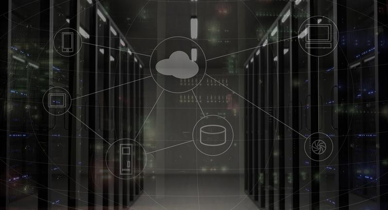 Esquema de la conexión de varios dispositivos a la nube.