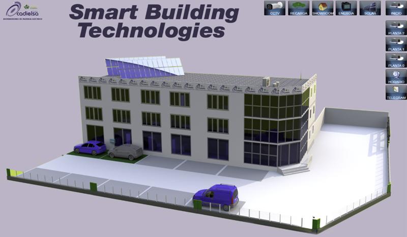 Figura 1. Imagen 3D edificio CADIELSA VALLADOLID en BMS.