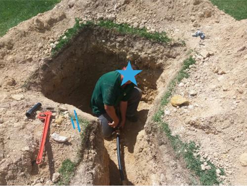 Figura 1. Reparación de fuga sin daños visibles, detectada en comunidad situada en Arenales del Sol – Elche, Alicante (Abril'18).