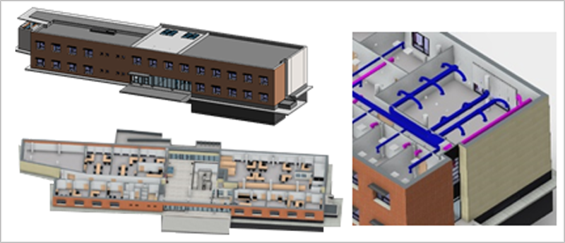 Imagen del modelo BIM edificio en Móstoles.