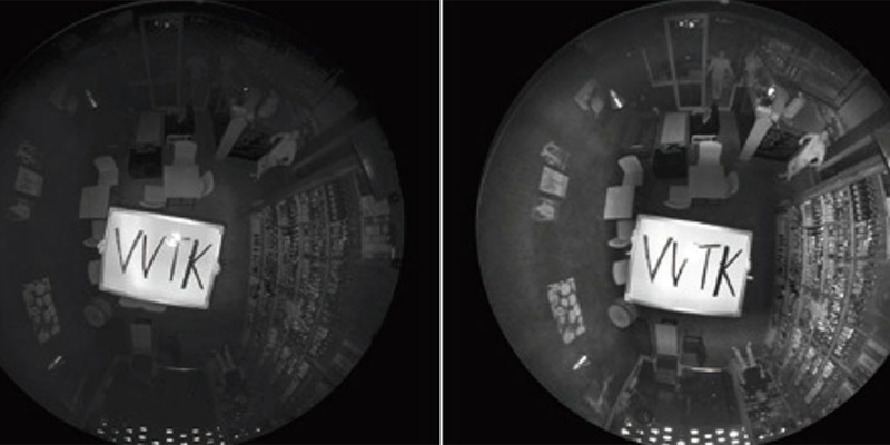 Dos imágenes infrarrojas con distinta claridad.
