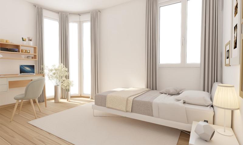 Figura 3. Vista dormitorio de esquina.