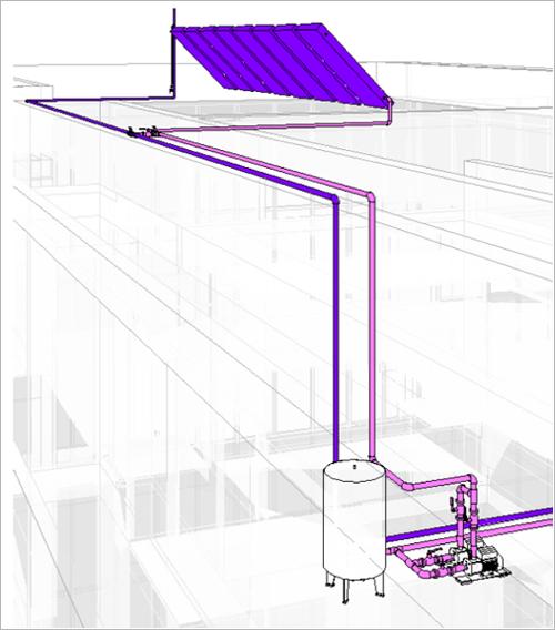Figura 6. Torre Catalinas – Esquema generación agua caliente.