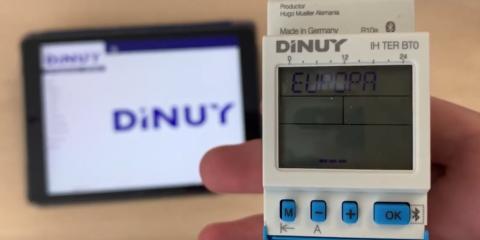 Configuración de los interruptores horarios digitales Bluetooth Dinuy