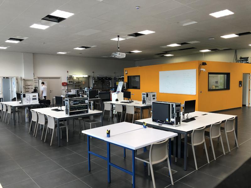 Interior del laboratorio en Bélgica.