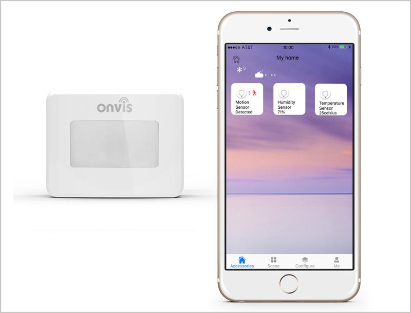 El sensor Onvis con la aplicación móvil.