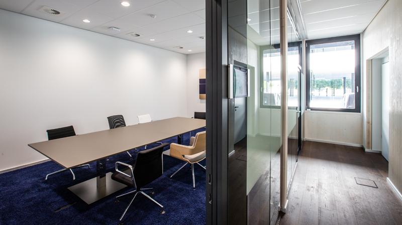 Una de las salas de reuniones de la oficina de Roche.